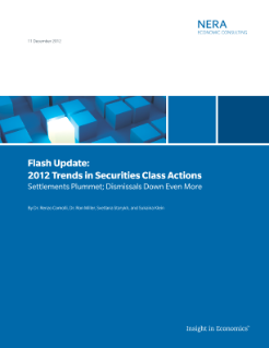 Flash Update: 2012 Trends in Securities Class Actions