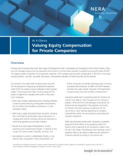 Valuing Equity Compensation for Private Companies At A Glance
