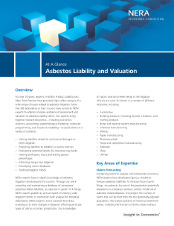 Asbestos Liability and Valuation At A Glance