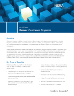 Broker-Customer Disputes At A Glance