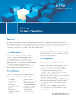 Business Valuation At A Glance