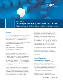 Auditing Bankruptcy and Other Tort Claims: Statistical Analysis, Sampling, and Coding Techniques At A Glance