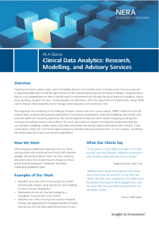 Clinical Data Analytics: Research, Modelling, and Advisory Services