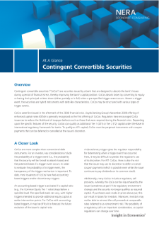 Contingent Convertible Securities