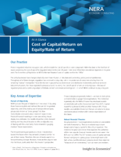 Cost of Capital/Return on Equity/Rate of Return At A Glance