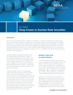 Deep Freeze in Auction Rate Securities At A Glance
