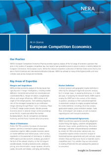 European Competition Economics At A Glance