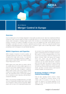Merger Control in Europe At A Glance
