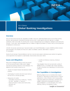 Global Banking Investigations At A Glance