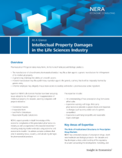Intellectual Property Damages in the Life Sciences Industry