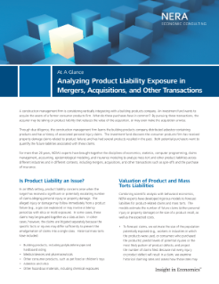 Analyzing Product Liability Exposure in Mergers, Acquisitions, and Other Transactions