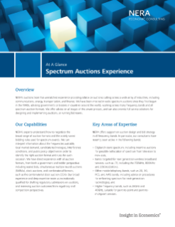 Spectrum Auctions Experience At A Glance