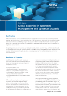 Global Expertise in Spectrum Management and Spectrum Awards