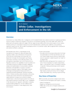 White Collar, Investigations and Enforcement in the US