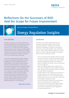 Reflections on the Successes of RIIO and the Scope for Future Improvement