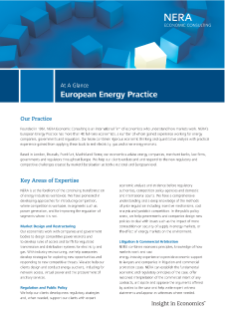 European Energy Practice At A Glance