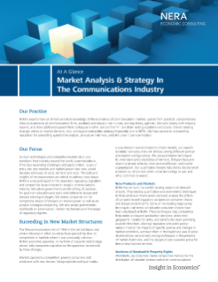 Market Analysis & Strategy in the Communications Industry At A Glance