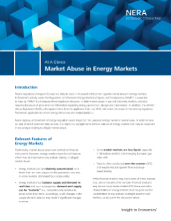 Market Abuse in Energy Markets At A Glance