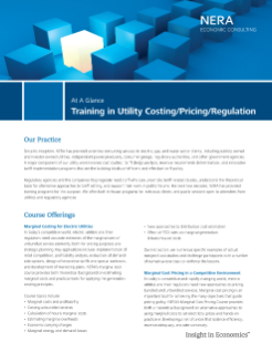 Training in Utility Costing/Pricing/Regulation At A Glance
