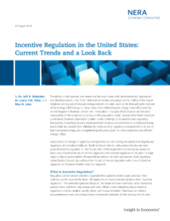 Incentive Regulation in the United States: Current Trends and a Look Back
