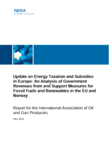 Update: Energy Taxation and Subsidies in Europe